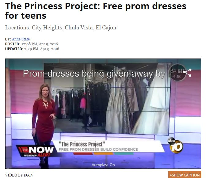 princess project Each february and march, baby dj assists young women from economically disadvantaged families to attend their prom or other formal dance through this program, we.